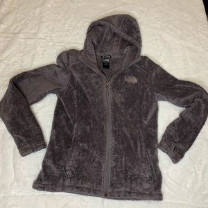 Woman's North Face Gray Full ZIP Hoodie Size XS/TP